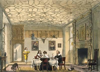 Medieval Family Supper, Wakehurst Print by Joseph Nash