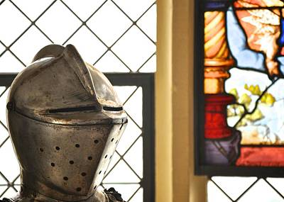 Medieval Helmet Print by Matt MacMillan