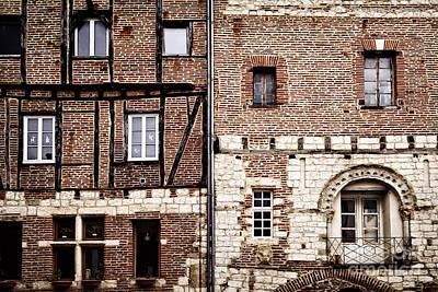 Medieval Houses In Albi France Print by Elena Elisseeva