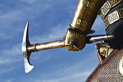 Knight Photograph - Medieval Knight And Axe by Holly Martin