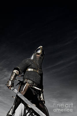 Knight Photograph - Medieval Knight With Sword  by Holly Martin