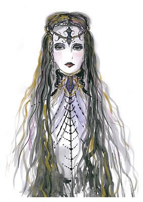 Medieval Drawing - Medieval Princess by Marian Voicu