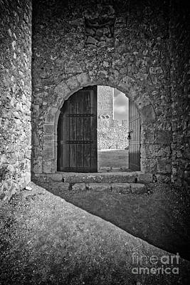 Gothic Photograph - Medieval Sesimbra Castle Gate by Jose Elias - Sofia Pereira