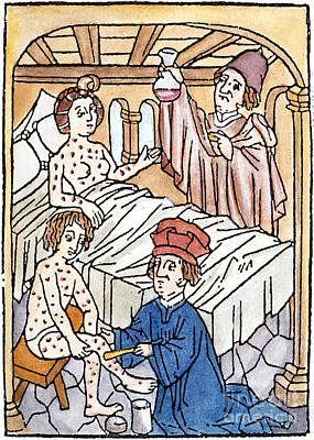 Medieval Syphilis, 1497 Print by Granger