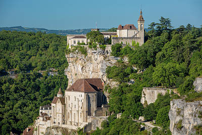 Medieval Town Of Rocamadour, Lot Print by Brian Jannsen