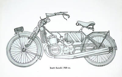 Water Filter Drawing - Medieval Two Stroke by Stephen Brooks