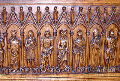 Medieval Wood Carving 1 Print by France  Art