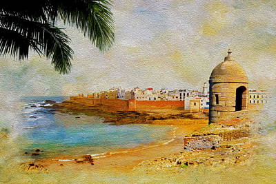 Rabat Painting - Medina Of Tetouan by Catf