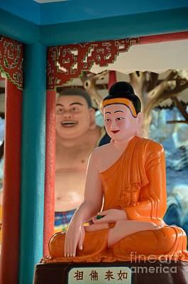 Meditating Buddha In Lotus Position Print by Imran Ahmed