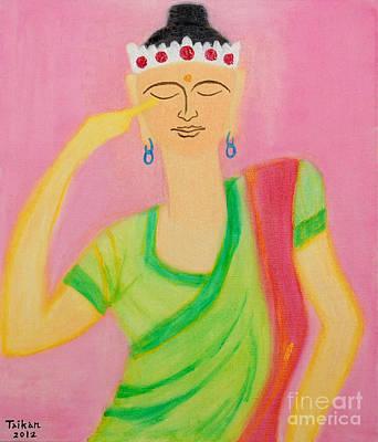 Taikan Painting - Meditation by Taikan Nishimoto