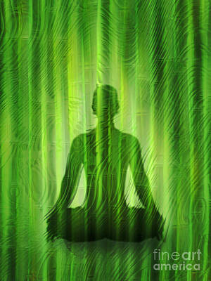 Meditation Waves Print by Lutz Baar