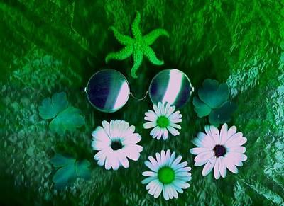 Fineart Mixed Media - Meditative Lake by Pepita Selles