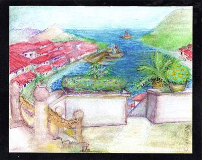 Docking Painting - Mediterranean  by C Fanous