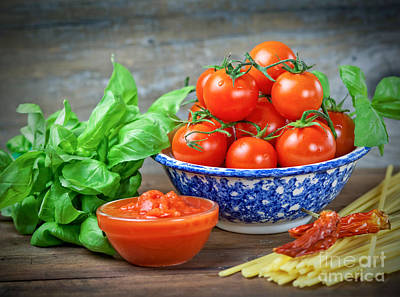 Mediterranean Diet Print by Marzia Giacobbe