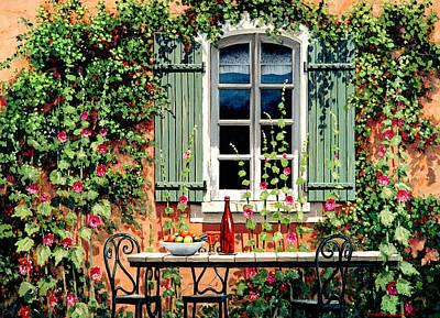 Wine Painting - Mediterranean Memories - Oil by Michael Swanson