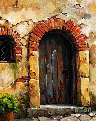 Portal Painting - Mediterranean Portal 02 by Emerico Imre Toth