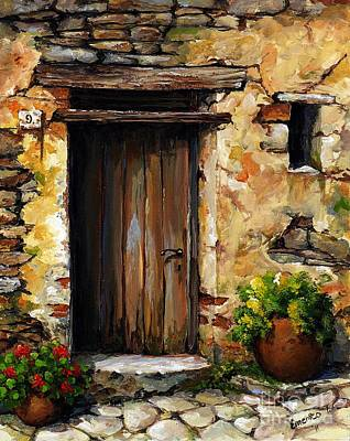 Portal Painting - Mediterranean Portal by Emerico Imre Toth