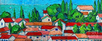 Montenegro Painting - Mediterranean Roofs 1 2 3 by Ana Maria Edulescu