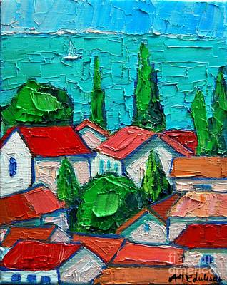 Montenegro Painting - Mediterranean Roofs 1 by Ana Maria Edulescu