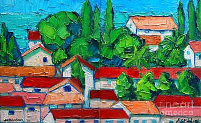 Montenegro Painting - Mediterranean Roofs 2 3 by Ana Maria Edulescu