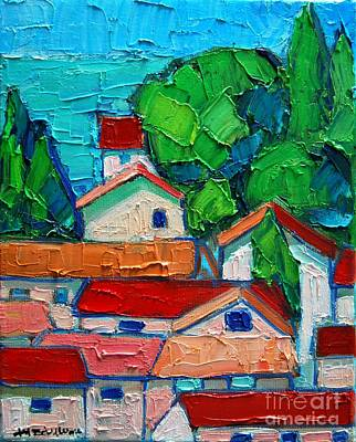 Montenegro Painting - Mediterranean Roofs 2 by Ana Maria Edulescu