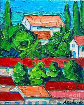 Montenegro Painting - Mediterranean Roofs 3 by Ana Maria Edulescu