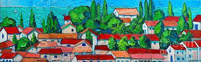 Montenegro Painting - Mediterranean Roofs by Ana Maria Edulescu