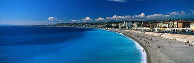 Sunbathers Photograph - Mediterranean Sea French Riviera Nice by Panoramic Images