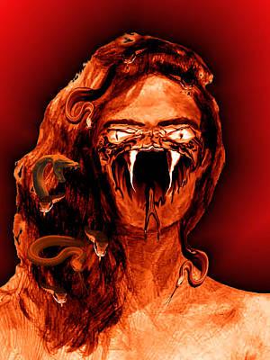 Gorgon Digital Art - Medusa 1 by Jack Bowman