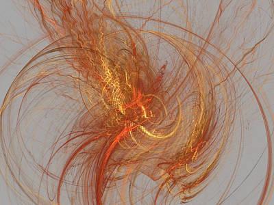 Medusa Digital Art - Medusa Bad Hair Day - Fractal by Menega Sabidussi