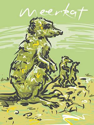 Meerkat Drawing - Meerkat by Brett LaGue