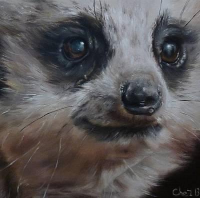 Meerkat Painting - Meerkat by Cherise Foster