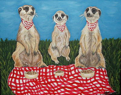 Meerkat Picnic Original by Danielle Theos