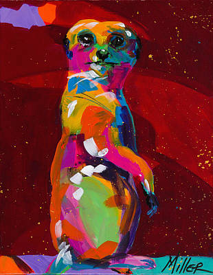 Meerkat Painting - Meerkat by Tracy Miller