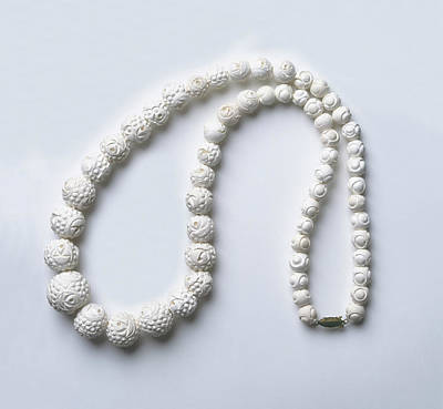 Necklace Photograph - Meerschaum (sepiolite) Bead Necklace by Dorling Kindersley/uig
