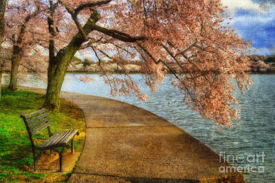 Benches Digital Art - Meet Me At Our Bench by Lois Bryan