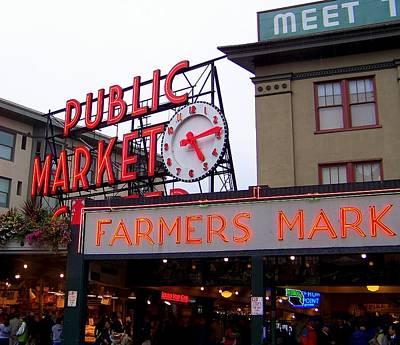 Food Stores Photograph - Meet Me In Seattle by Karen Wiles