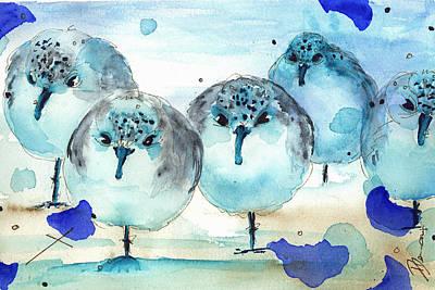 Meet The Sanderlings Print by Dawn Derman