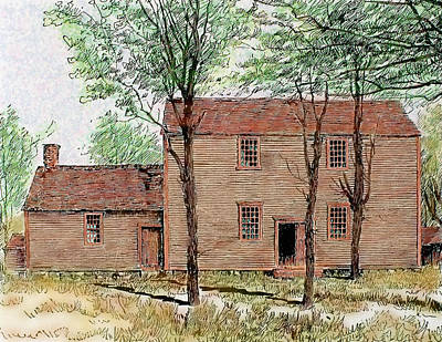 Meeting House Of The Quakers Print by Prisma Archivo