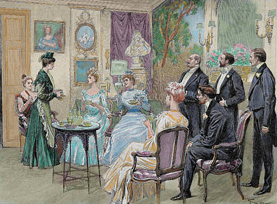 Meeting Of Aristocratic Families Print by Prisma Archivo