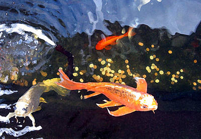 Catfish Mixed Media - Meetings On The Riverbank by Patricia Januszkiewicz