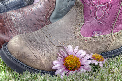 Cowgirls Photograph - Megaboots by Joan Carroll