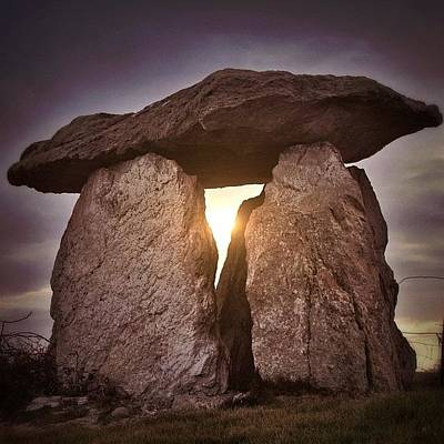Magician Photograph - Megalith Anglesey by Phil Tomlinson
