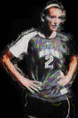 Megan Hock Iupui Painted Digitally Soccer Futbol Print by David Haskett