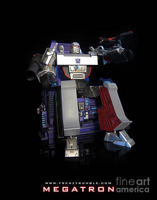 Gnaw Mixed Media - Megatron - G1 by Frenzyrumble