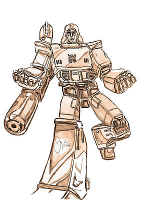 Transformer Drawing - Megatron by Brotha Nature