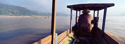 Laos Photograph - Mekong River, Luang Prabang, Laos by Panoramic Images