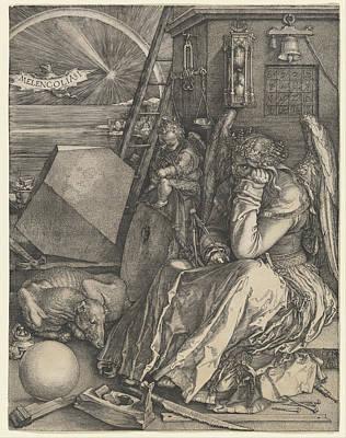 Angels Drawing - Melancholia I by Albrecht Durer