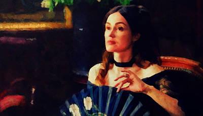 Berthe Mixed Media - Melancholy Beauty by Janice MacLellan