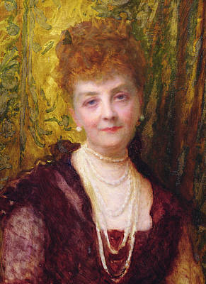 Aristocrat Painting - Melanie De Bussiere by Antoine Auguste Ernest Herbert